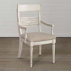 Woven Back Arm Chair