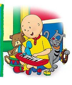 Caillou playing his Magic Keyboard