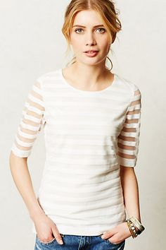 Eastlake Tee by Sunday in Brooklyn #ivory #stripes #anthrofave