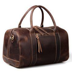 Image of Vintage Handmade Antique Leather Travel Bag / Tote / Messenger Bag / Overnight Bag(z10)