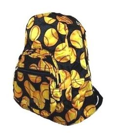 Fastpitch Softball Yellow Ball Small Backpack « Clothing Impulse my Mia Softball Backpacks, Softball Bags, Girls Softball, Softball Stuff, Softball Things, Softball Equipment, Baseball Stuff, Softball Quotes, Softball Pictures