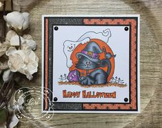 ONECRAZYSTAMPER.COM: Happy Halloween from Kitty & the Gang! by Lori using High Hopes Stamps
