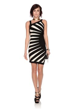 The optical allusion on this Asymmetric bandage dress by @Herve Leger is a great slimming tool, while the monochrome colour scheme keeps it modern. The iconic bandage fit are ideal if your feel like flaunting your curves. Hire now at @Wish Want Wear here: http://www.wishwantwear.com/dress-hire/herve-leger/1057-asymmetric-bandage-dress.html