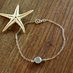 Sterling Silver Bracelet Silver Circle Disc Bracelet Silver Chain Minimalist Bridal Gift for Her Bridesmaid Delicate Anklet Layering Boho by MermaidBeadsJewelry on Etsy