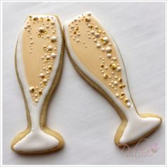 Image result for champagne glass cookies