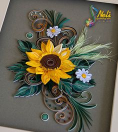 Neli Quilling Art: Quilling picture - sunflower