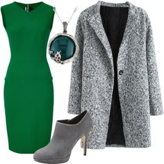Modern Slytherin by hestiarocks on Polyvore featuring polyvore fashion style Roland Mouret Vince Camuto Savvy Cie modern