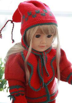 Avec ces modèles de vêtements au tricot vous obtenez tous les accessoires dont vous avez besoin pour votre poupée  Design Målfrid Gausel