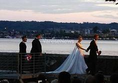 Casiraghi-Borromeo, gli sposi alla Rocca per festeggiare