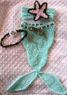 Crochet Mermaid Tail Costume Photo Prop so cute! <3