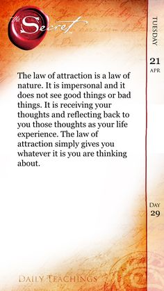 The law of attraction SIMPLY gives you whatever it is you are THINKING ABOUT.