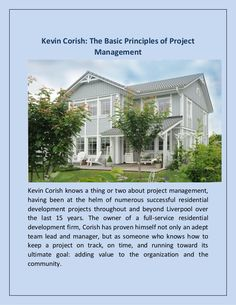 Kevin Corish knows a thing or two about project management, having been at the helm of numerous successful residential development projects throughout and beyo… Project Management, Liverpool, Projects, Log Projects, Blue Prints