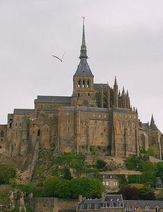 """Mont Saint Michel, -After the Romans left Britannia - today's United Kingdom - in mid 5th century, many Britons crossed the channel due to fear of the increasing Anglo-Saxon influence in their former home country. This emigration is the reason why this French region is called Bretagne, in English """"Brittany""""- """"little Britain"""". The Monte Tombe served as a stronghold until it was later sacked by the Franks, which ended the era of Celtic cultural links between Britannia and the region Bretagne."""