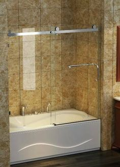 Frameless Bathtub Door - 8mm glass http://www.endocanada.com