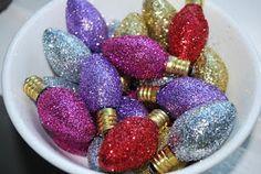 Bargain Bound: Glittered Bulbs