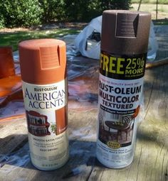 I came up with an easy, quick, less messy way to make my tin cans look rusty.This method is much easier than using mod podge and cinnamon. ...