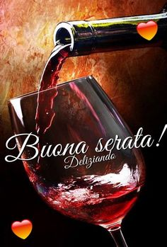 Italian Greetings, Wine Decanter, Coffee Time, Red Wine, Alcoholic Drinks, Glass, Food, Short Messages, Night