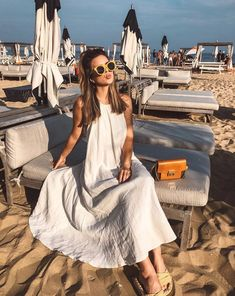 Long Dress Beach Look with Givenchy Bag