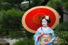 geisha holding umbrella - Google Search