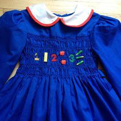 Polly Flinders School Dress Girls 5 by lishyloo on Etsy, $15.00