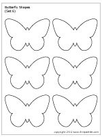 Butterfly Shapes Set 6