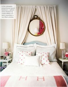 Lonny - idea cortinas como cabecero