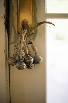 Antique bells on the door.  The New Victorian Ruralist: Already a holiday bestseller at Finderskeepers Market...