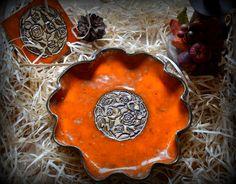 Paterka pomarańcz z motywem róż