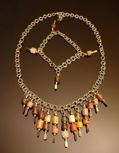 Multicolored earthone jasper necklace and by DahyiitihiArts