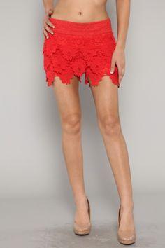 Flower Crochet Shorts
