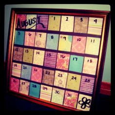 DIY dry erase calendar- going to do this with paint swatches!!