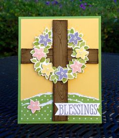 Krystal's Cards: Stampin' Up! Wondrous Wreath Blessings #stampinup #krystals_cards #wondrouswreath #sixsayings #handstamped #papercrafts #cardmaking #stampsomething