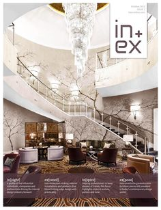 Inex October 2013  In this month's issue we celebrate autumn and investigate the various ways that colourful ambience filters through design. Portuguese brand Insidherland releases a furniture collection that reflects trees, leaves and nature, Carol Parry from Arboreta discusses how to make the most of a winter garden design and we look at the on-trend patterns and colours exposed during London Design Festival.