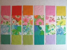 use old sheets and other linens for quilt fabric to make cool retro quilts! This makes more sense than buying new fabric to cut up for quilts! Vintage Linen, Vintage Sheets, Vintage Fabrics, Quilting Tips, Quilting Projects, Quilting Designs, Patchwork Blanket, Small Sewing Projects, Sewing Art