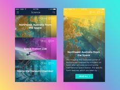 Tubik studio science news app 2x