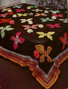Crochet butterfly bedspread ♥LCB♥ with diagram. Pretty, ♥ }}{{