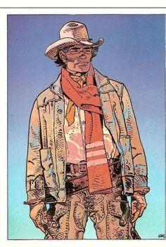 """Portrait de Blueberry inspiré du film """"Will Penny le solitaire"""" Jean Giraud, Western Comics, Western Art, Moebius Art, Moebius Comics, Westerns, Character Inspiration, Character Design, Bd Art"""