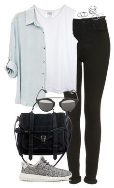 """Untitled #4692"" by eleanorsclosettt ❤ liked on Polyvore featuring Topshop, Proenza Schouler, Christian Dior and adidas Originals"