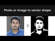 Convert photo or image to vector shape - YouTube Convert Image To Vector, Vector Shapes, Illustrator Tutorials, Photoshop, Illustration, Youtube, Illustrations, Youtubers, Youtube Movies