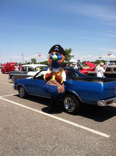 Pirate Pete making an appearance at the 50th Anniversary Car Show!