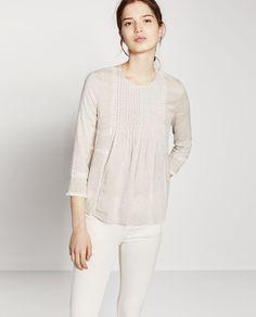 Image 1 of LATTICE VOILE TOP from Zara