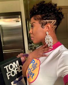 We are seriously crushing on this dope cut on aperfectsummer # Short Sassy Hair, Short Hair Cuts, Short Hair Styles, Short Afro, Pixie Cuts, Tapered Natural Hair, Natural Hair Styles, Natural Hair Pixie Cut, Undercut Natural Hair