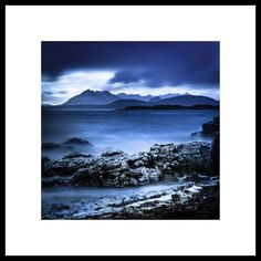 Moody Blue Extra large wall art - Scottish Mountain Photography - Isle of Skye - Huge Wall Art - Navy Blue - Scotland Landscape - Mountains