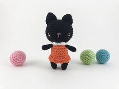 Amigurumi Cat, Crochet Cat, Amigurumi Kitty, Crochet Kitty, Softie Animal, Amigurumi Plush, Mini Cat, Stuffed Cat, Softie Doll by MossyMaze on Etsy https://www.etsy.com/listing/557857623/amigurumi-cat-crochet-cat-amigurumi