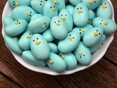 blue birdi, easter crafts, holiday decorating, jordan almond, holiday craft, almond blue