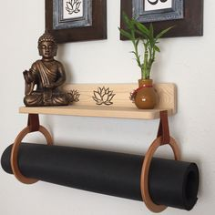 Updates from YogaWares on Etsy Home Yoga Room, Yoga Room Decor, Meditation Room Decor, Living Room Decor, Bedroom Decor, Home Gym Decor, At Home Gym, Meditation Raumdekor, Yoga Room Design