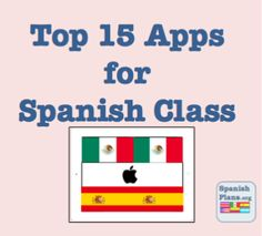 These are a list of my Top 15 Apps that I have used with iPads in my Spanish 1 class. I have divided them into 4 sections. Language Apps allows the students to practice the language or see the lang… Spanish Teacher, Spanish Classroom, Teaching Spanish, Middle School Spanish, Elementary Spanish, Spanish Lesson Plans, Spanish Lessons, Spanish Courses, Spanish 1