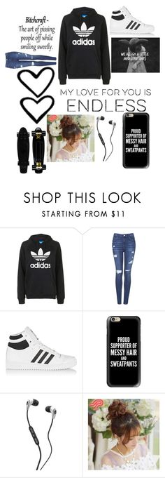 """Adidas"" by julianae101 on Polyvore featuring Topshop, adidas Originals, Casetify, Skullcandy and Pin Show"