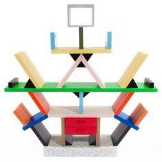 Postmodern design: Carlton bookcase by Ettore Sottsass