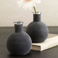 Flannel Vase Gray by Design Ideas